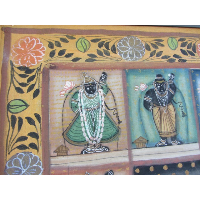 Vintage Hand Painted Indian Silk Tapestry - Image 6 of 8