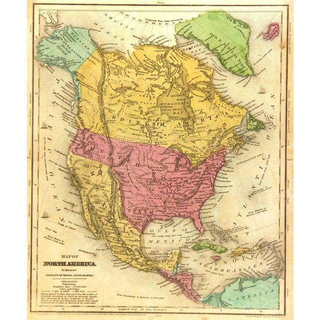 1844 Vintage America & Texas Republic Map - Image 1 of 3