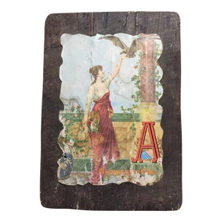 Antique Budweiser Girl Plaque