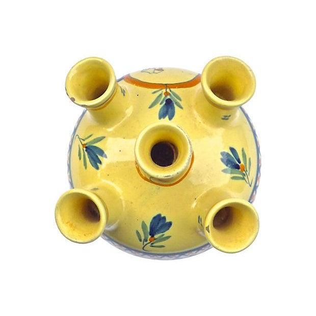 Vintage Henriot Quimper Maiden Tulipier Vase - Image 3 of 6