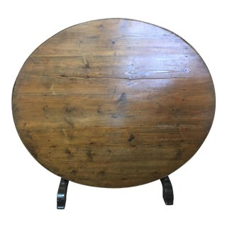 Antique French Country Wine Tasting Table