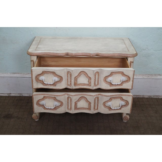 Image of Baker French Provincial Painted Small Chest