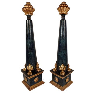 1900s Baroque Style Posts - A Pair