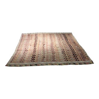 "Vintage Turkish Kilim Rug - 9'10"" x 11'2"""