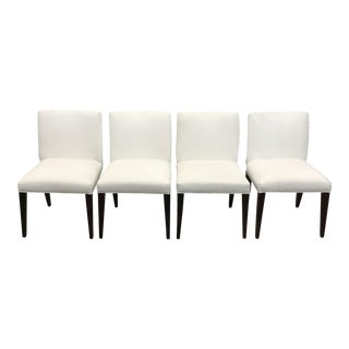Upholstered White Dining Chairs Set