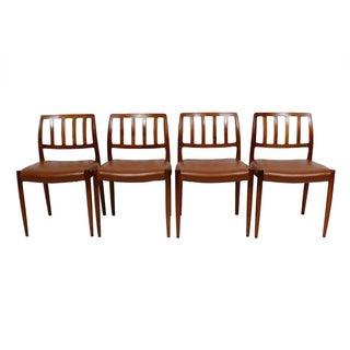 Rosewood Niels Moller #83 Dining Chairs - Set of 4