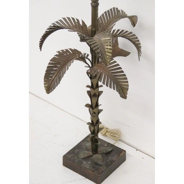Maison Jansen Style Metal Palm Tree Lamp - Image 4 of 4