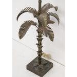 Image of Maison Jansen Style Metal Palm Tree Lamp