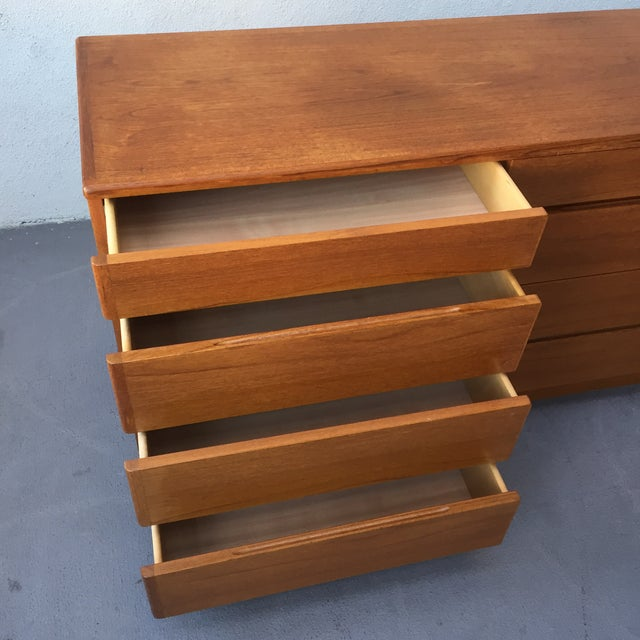 Danish 12-Drawer Teak Minimalist Dresser - Image 6 of 7