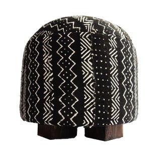 African Malian Mud Cloth Ottoman