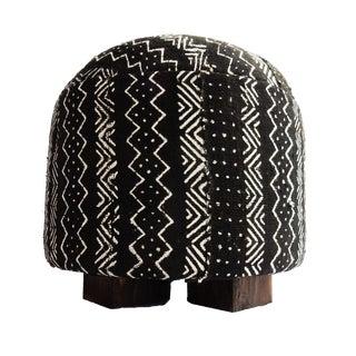 African Malian Mud Cloth Ottoman