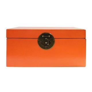 Orange Rectangular Container Box
