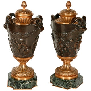 French, Neoclassical Revival Urns