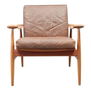 Finn Juhl Spade Chair FD133 with Brown Leather - Danish, Mid Century Modern