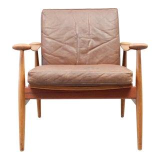 Finn Juhl Spade Chair FD133 with Brown Leather - Danish, Mid Century Modern