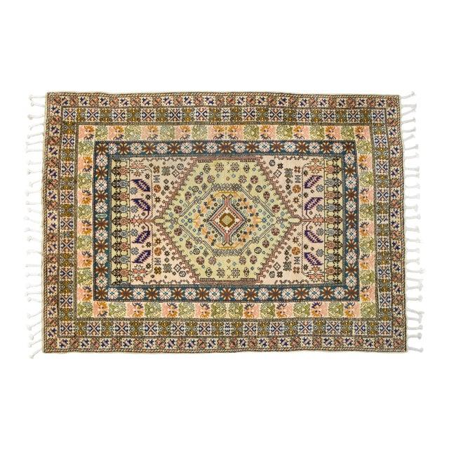 """Vintage Moroccan Rug 'Amina' - 4'9""""x6'8"""" - Image 1 of 6"""