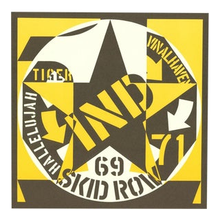 1969 Skid Row Poster by Robert Indiana