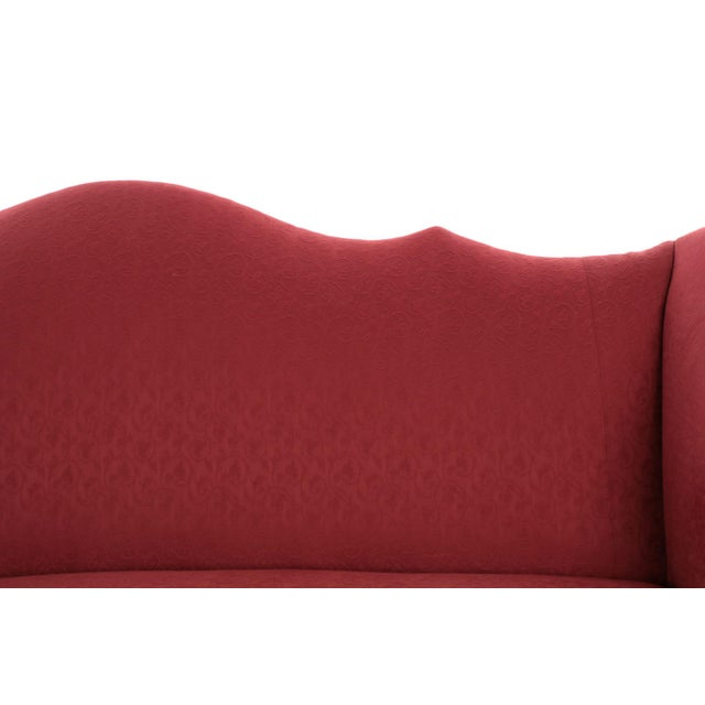20th Century American Chippendale Style Mahogany Camel Back Sofa - Image 6 of 12
