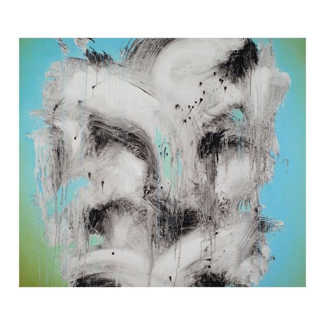 "Jeff Muhs ""Tattooed With Nine Dragons"" Painting - Image 1 of 4"