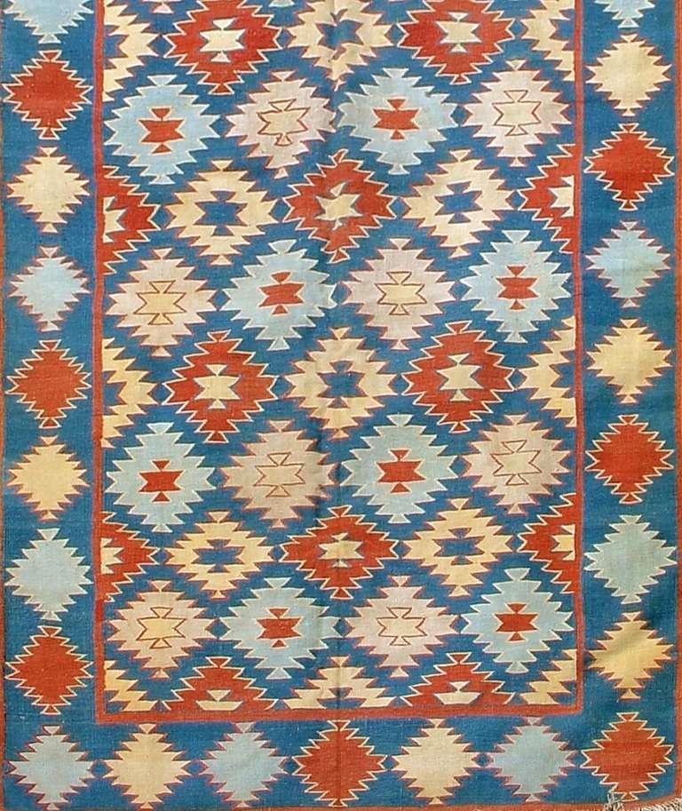 image of vintage dhurrie rug