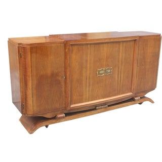 French Art Deco Walnut Buffet