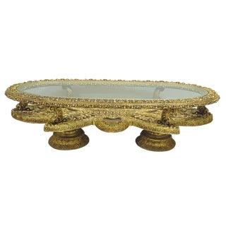 Baroque Gilt Oval Coffee Table Base