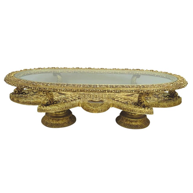 Baroque Gilt Oval Coffee Table Base Chairish
