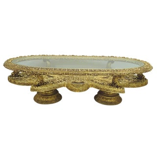 Baroque Gilt Oval Coffee Table Base