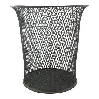 Industrial Metal Wastebasket