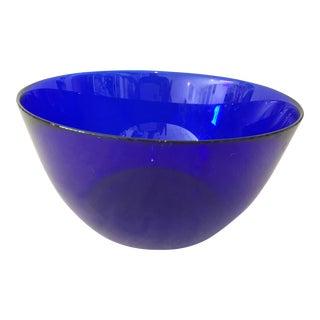 Vintage Cobalt Salad Snack Bowl