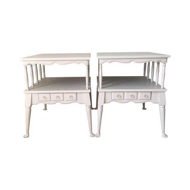 Image of Vintage Transitional Nightstands - Pair