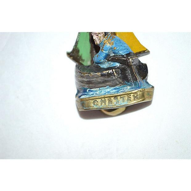 Image of Original Enamel Sailboat Door Knocker