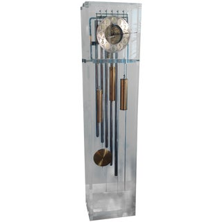 Vintage Lucite Grandfather Clock
