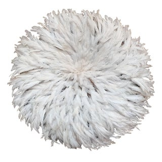 Ivory Feather JuJu Hat