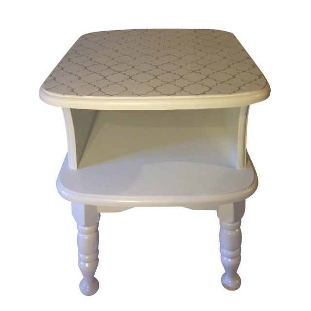Image of White Painted Side Table