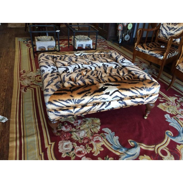 Flip Top Ottoman Coffeetable In Scalamandre Tiger Chairish