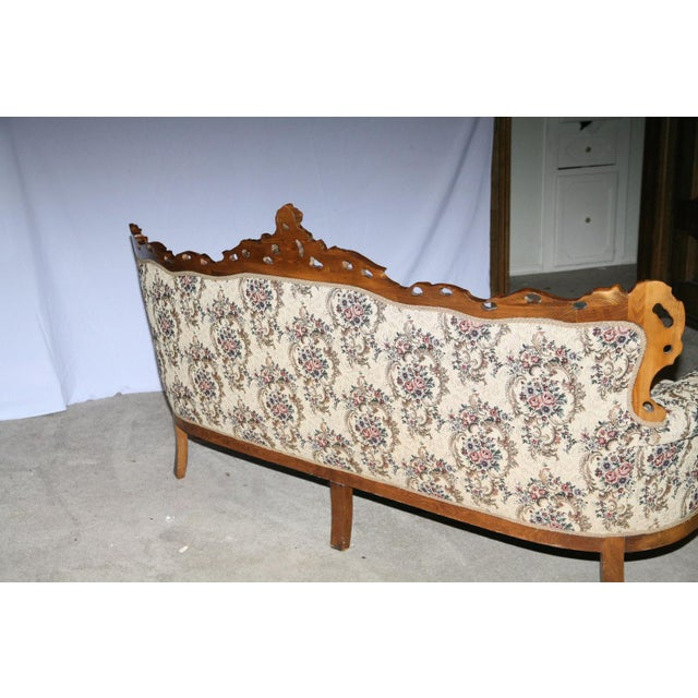 Victorian Style Decorative Floral Upholstered Parlor Sofa - Image 3 of 3