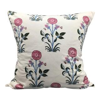 Indian Block Print Pink Pillow