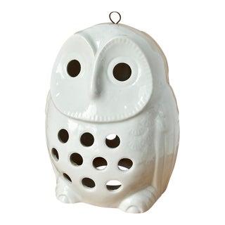 Vintage Owl Lantern Candle Holder