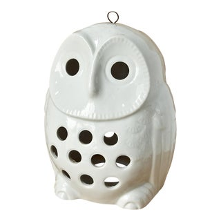 Vintage Owl Lantern Candle Holder