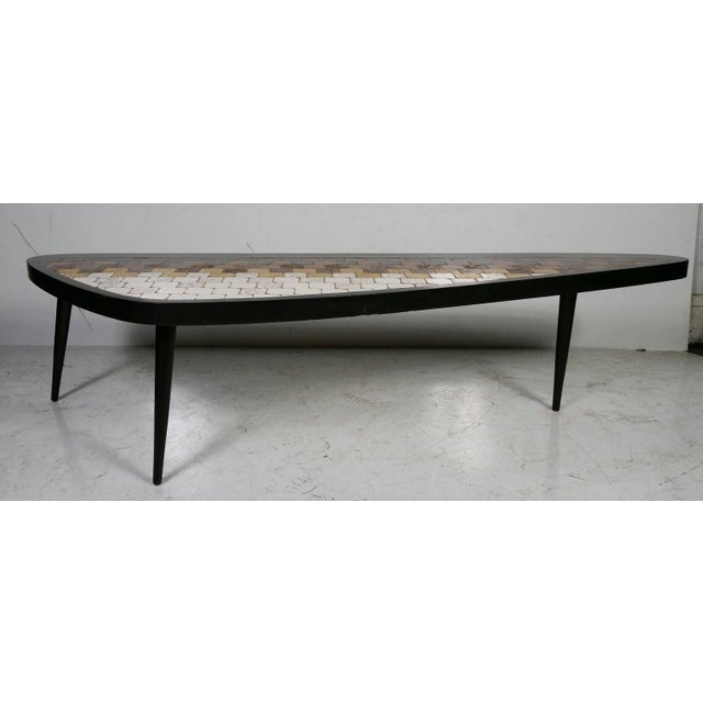 "Richard Hohenberg ""Guitar Pick"" Tile Coffee Table - Image 3 of 7"