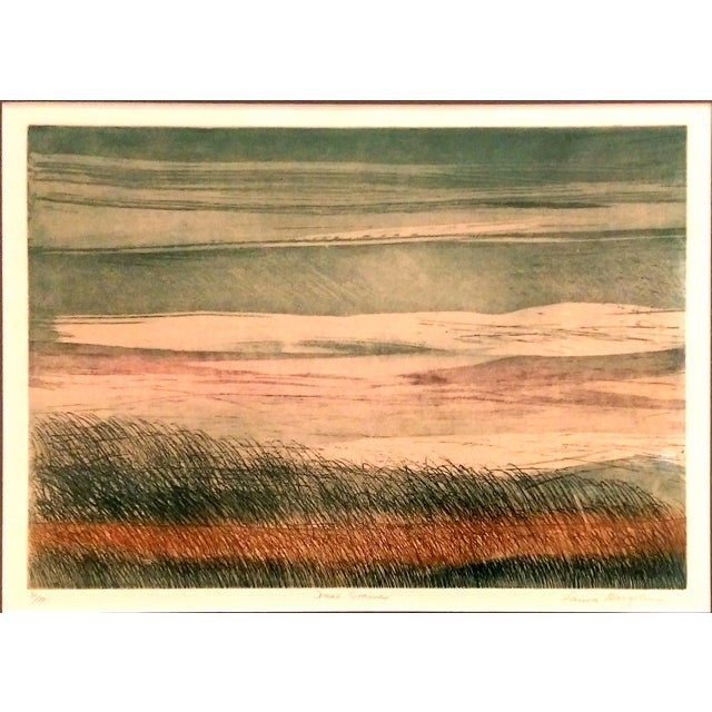 "Image of Laura Margolius ""Dune Grasses"" Collograph Print"