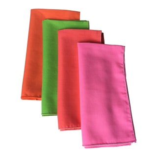 Vintage Bright Neon Napkins - Set of 4