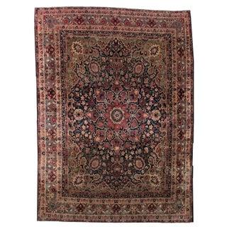1880s Hand Made Antique Persian Kerman Lavar Rug - 8.1' X 11.1'