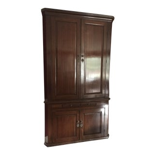 Antique Wood Corner Cabinet