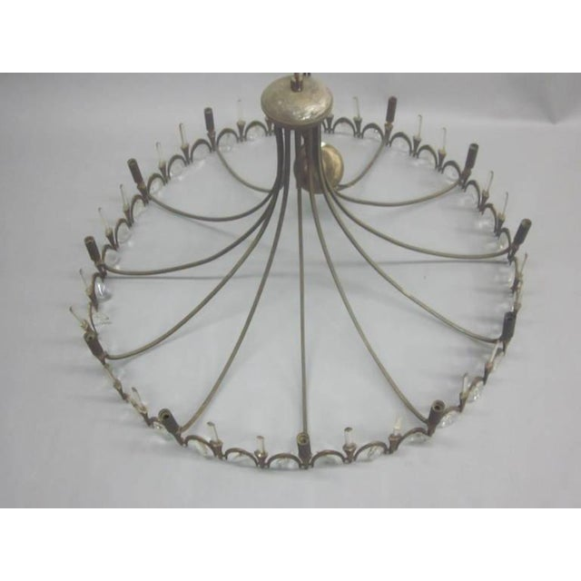 Italian Modern Neoclassical Gilt Bronze and Crystal Chandelier - Image 4 of 9