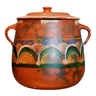 Vintage Tlaquepaque Mexican Clay Pot