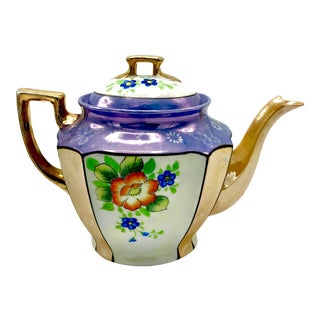 Antique Japanese Lustreware Teapot