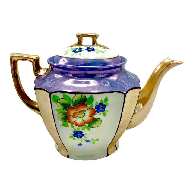 Antique Japanese Lustreware Teapot - Image 1 of 7