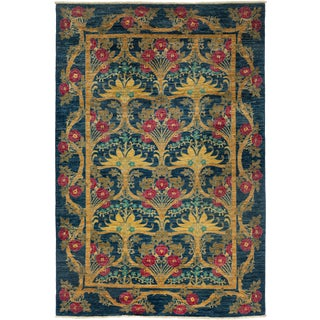 """Arts & Crafts Hand Knotted Area Rug - 5'10"""" X 8'10"""""""